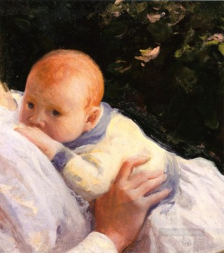 Theodore Lambert DeCamp as an Infant Tonalism painter Joseph DeCamp Oil Paintings