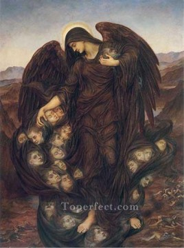 The Field of the Slain Pre Raphaelite Evelyn De Morgan Oil Paintings
