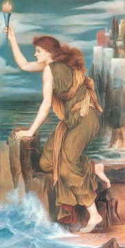 hero beijing opera jacky chen Painting - Hero Awaiting the Return of Leander Pre Raphaelite Evelyn De Morgan