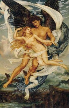 Boreas and Orietyia Pre Raphaelite Evelyn De Morgan Oil Paintings