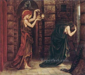 Hope in the Prison of Despair Pre Raphaelite Evelyn De Morgan Oil Paintings