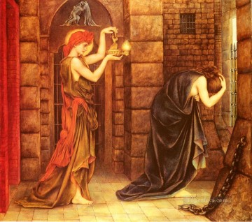 Morgan Eveleyn de Hope In The Prison Of Despair Pre Raphaelite Evelyn De Morgan Oil Paintings
