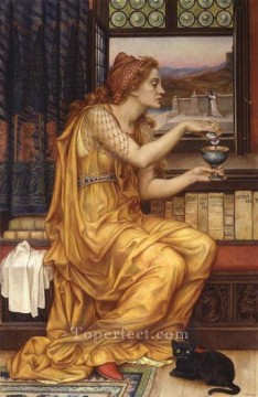 Love Painting - The Love Potion Pre Raphaelite Evelyn De Morgan