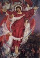 The Red Cross allegory of Flanders war graves Pre Raphaelite Evelyn De Morgan