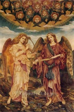 Gloria in Excelsis Pre Raphaelite Evelyn De Morgan Oil Paintings