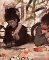 at the cafe Edgar Degas