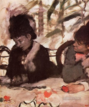 Edgar Degas Painting - at the cafe Edgar Degas