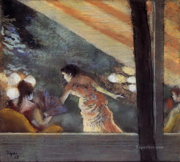 Edgar Degas Painting - at the cafe des ambassadeurs 1885 Edgar Degas