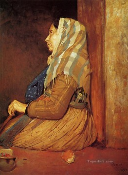 A Roman Beggar Woman Edgar Degas Oil Paintings
