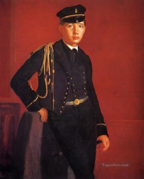 Edgar Degas Painting - Achille De Gas in the Uniform of a Cadet Edgar Degas