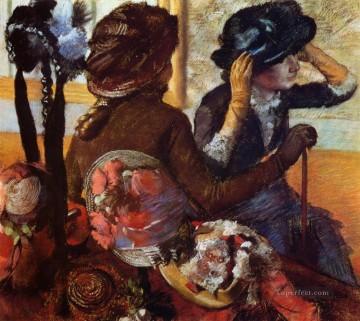 At the Milliners 2 Edgar Degas Oil Paintings