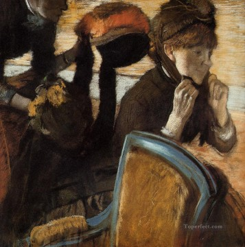 At the Milliners 3 Edgar Degas Oil Paintings