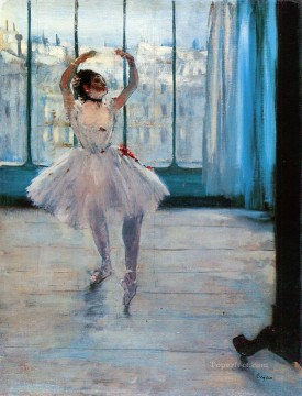 Impressionism Oil Painting - Dancer At The Photographers Impressionism ballet dancer Edgar Degas