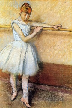 Impressionism Oil Painting - Dancer at the Barre Edgar Degas circa 1880 Impressionism ballet dancer Edgar Degas