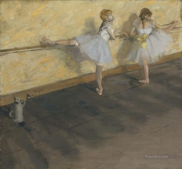 Edgar Degas Painting - Dancers Practicing at the Barre Edgar Degas
