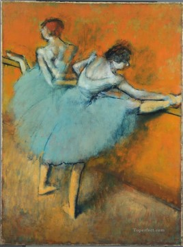 Edgar Degas Painting - Dancers at the Barre Edgar Degas