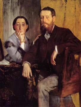 Edmond and Therese Morbilli Edgar Degas Oil Paintings