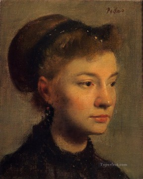 Head of a Young Woman Edgar Degas Oil Paintings