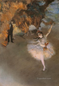 LEtoile 1878 Impressionism ballet dancer Edgar Degas Oil Paintings