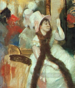 pres Painting - Portrait after a Costume Ball Portrait of Madame DietzMonnin Impressionism ballet dancer Edgar Degas