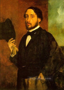 Edgar Degas Painting - Self Portrait Edgar Degas