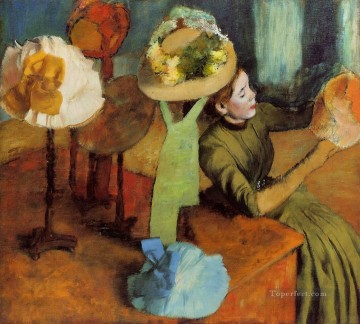 Edgar Degas Painting - The Millinery Shop Edgar Degas