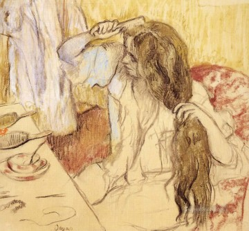 Impressionism Oil Painting - Woman At Her Toilet Impressionism ballet dancer Edgar Degas
