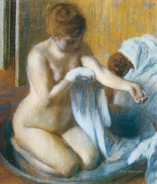 after the bath 1886 Edgar Degas Oil Paintings