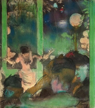 Edgar Degas Painting - at the cafe des ambassadeurs Edgar Degas