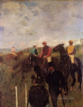 horce races racing Painting - at the races 1872 Edgar Degas