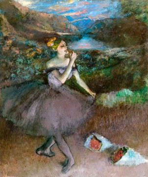 ballet Painting - ballet dancer with bouquet Edgar Degas