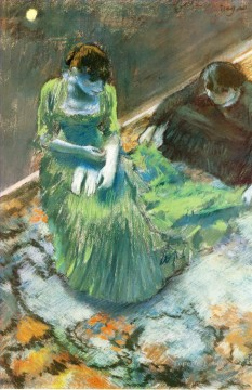 before the curtain call 1892 Edgar Degas Oil Paintings