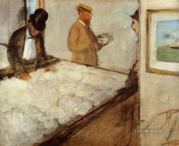 Edgar Degas Painting - cotton merchants in new orleans 1873 Edgar Degas
