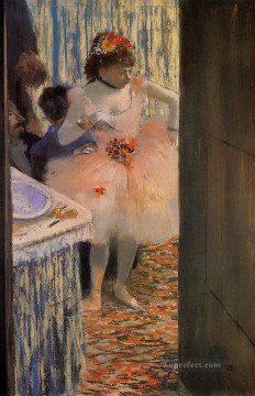 Edgar Degas Painting - dancer in her dressing room 1 Edgar Degas