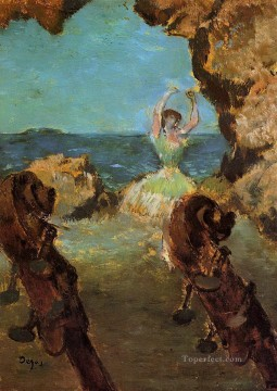Edgar Degas Painting - dancer on stage 1 Edgar Degas