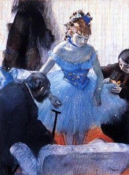 Edgar Degas Painting - dancer s dressing room Edgar Degas