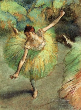 Edgar Degas Painting - dancer tilting Edgar Degas