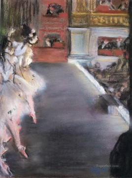 Edgar Degas Painting - dancers at the old opera house Edgar Degas
