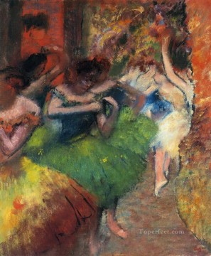 Edgar Degas Painting - dancers in the wings Edgar Degas