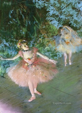 Edgar Degas Painting - dancers on set 1880 Edgar Degas
