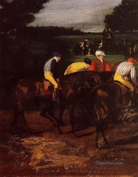 Edgar Degas Painting - jockeys at epsom 1862 Edgar Degas