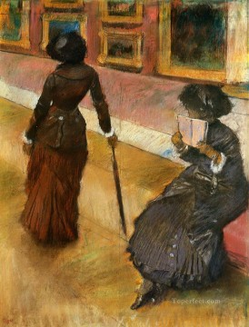 mary cassatt at the louvre Edgar Degas Oil Paintings