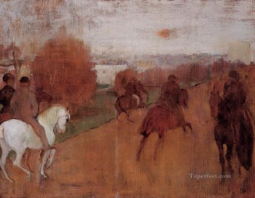 Edgar Degas Painting - riders on a road 1868 Edgar Degas