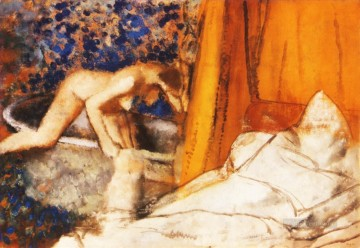 Edgar Degas Painting - the bath 1890 Edgar Degas