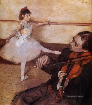 Edgar Degas Painting - the dance lesson 1879 Edgar Degas