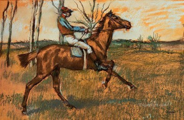 Edgar Degas Painting - the jockey Edgar Degas