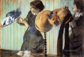 Edgar Degas Painting - the little milliners 1882 Edgar Degas
