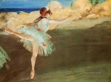 the star dancer on pointe Edgar Degas Oil Paintings