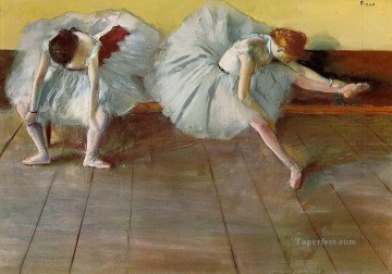 ballet Painting - two ballet dancers Edgar Degas
