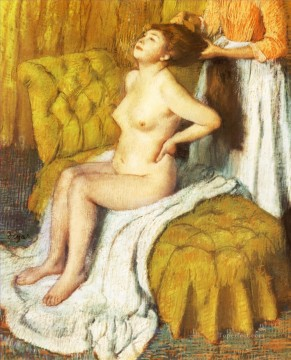 woman having her hair combed 1895 Edgar Degas Oil Paintings
